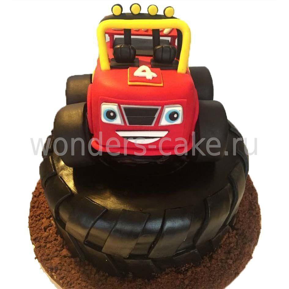 Торт со вспыш и чудо машинки